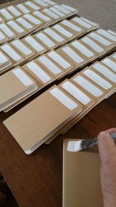 Blog - Collaged Kraft Paper Journals - White Gesso Background