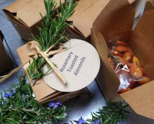 Rosemary Toasted Almonds make a great Quick Gift from the Kitchen!