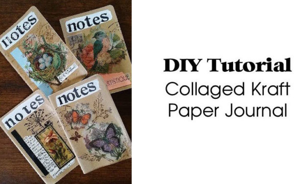 Collaged Kraft Paper Journal