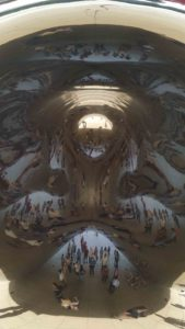 Chicago Inside Cloud Gate-The Bean