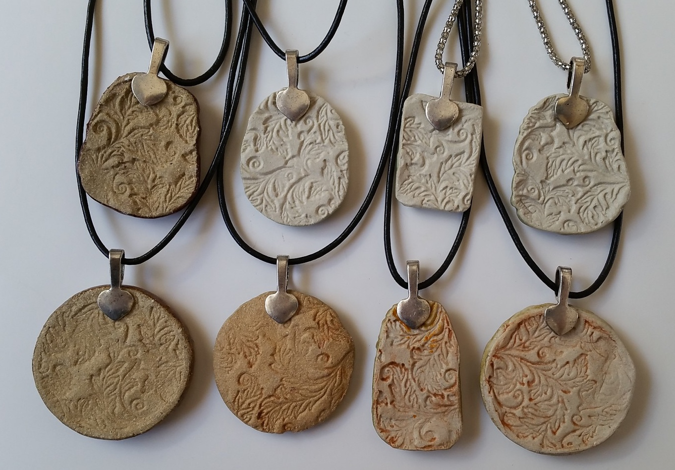 How to make molded ceramic jewelry pendants and charms diane uke ceramic pendant necklace back side with bail mozeypictures Gallery