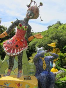 New Zealand - Akaroa - The Giant's House Mosaic Figurines