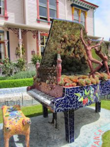 New Zealand - Akaroa - The Giant's House Mosaic Piano
