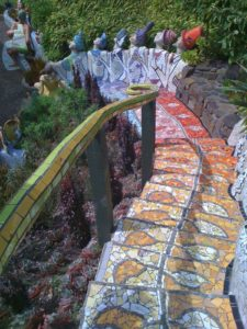 New Zealand - Akaroa - The Giant's House Mosaic Stairway