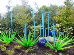 Seattle - Chihuly Garden & Glass Green & Blue Spikes