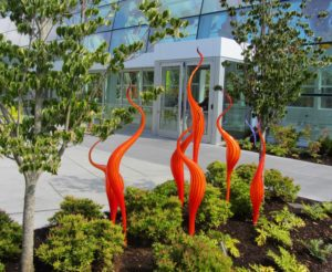 Seattle - Chihuly Garden & Glass Orange Twist Spikes