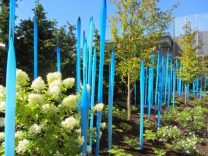 Seattle - Chihuly Garden & Glass Turquoise Spikes