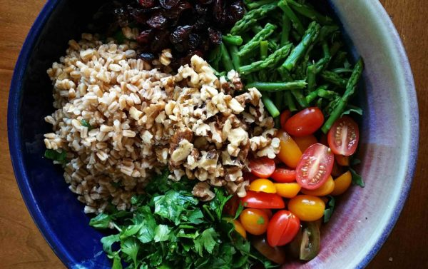 Farro and Arugula Salad - All ingredients