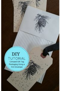 Crimped Gift Tag Packaging Using a #10 Envelope