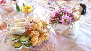 Plate Flower - Tea Luncheon Finger Sandwiches and Scones