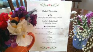 Plate Flower - Tea Luncheon Menu