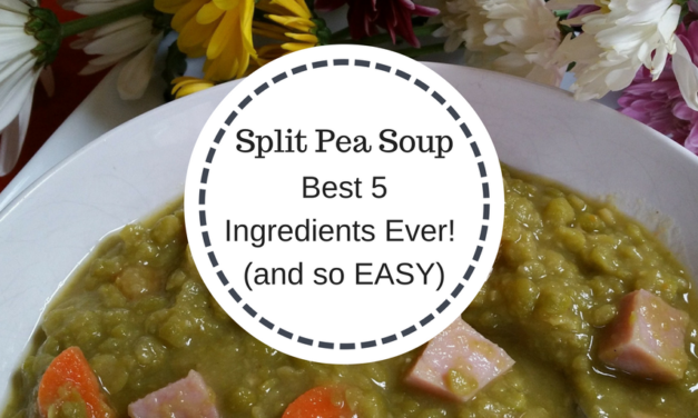 Split Pea Soup – The Best 5 Ingredients Ever!