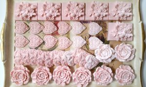 Valentine Heart & Flower Soaps - Melt & Pour Soap at www.dianeukeshares.com