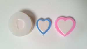 Valentine Soap - Filled silicone soap molds