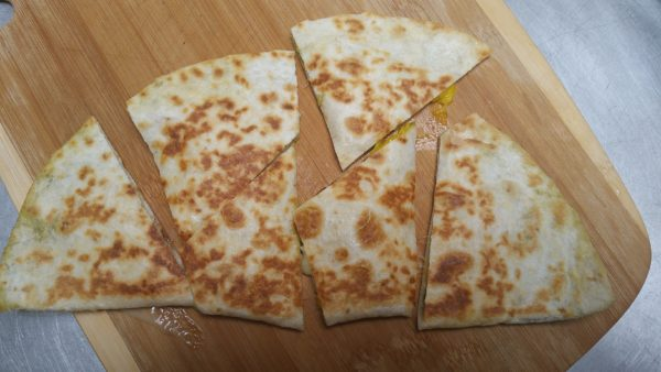 Brie and Mango Quesadillas - Cut in fun shapes